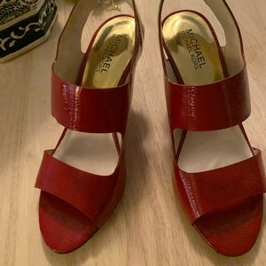 Michael Kors Red Patent Leather Heels